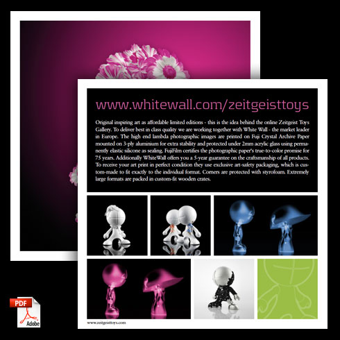product flyer: white wall gallery english